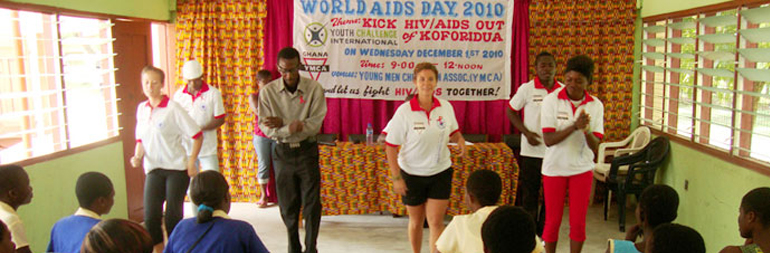 volunteer in HIV-AIDS education project in ghana